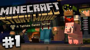 minecraft story mode 1 episode 1 endercon youtube