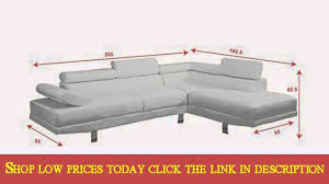 Modern  Pieces White Faux Leather Sectional Sofa Right Chaise By - Sofa modern 2