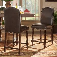 Kitchen Table Bar Style Homesullivan Olson Industrial 24 In Brown Swivel Bar Stool Set