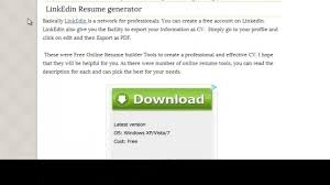 Create Online Resume For Free by How To Build A Resume Online 100 Free Youtube
