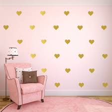 compare prices on gold wall decals online shopping buy low price gold heart butterfly stars wall decals gold polka dot wall sticker for kids room decor gold