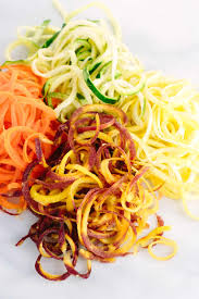 Vegetables by Spiralized Vegetable Noodle Salad With Avocado Sauce Jessica Gavin