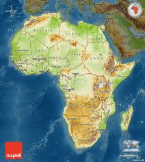 Physical Map Africa physical map of africa darken