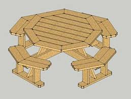 Building Plans For Picnic Table Bench by Really Nice Looking Octagon Table You Can Make Yourself Www