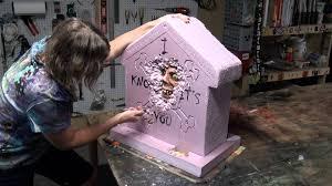 revenge tombstone halloween prop youtube