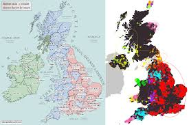 Map Of Ireland And England Maps Of Britain And Ireland U0027s Ancient Tribes Kingdoms And Dna