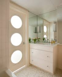 beige wall tile for cute scandinavian bathroom ideas with large
