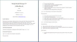 Sample Resume For Retail Manager by 100 Resume Career Objective Sales Intensive Care Nurse