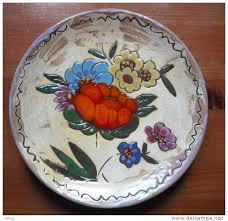 Assiette \u0026quot;Fleurs\u0026quot; Vallauris Pièce Unique Francis Fait Main [15 EUR] - 303_001