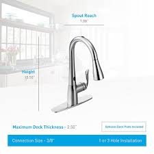 moen arbor 7594esrs kitchen faucet with motionsense and high arc