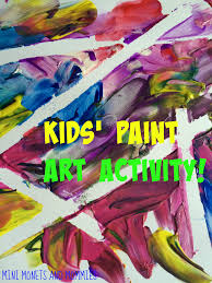 mini monets and mommies ribbon resist art for kids