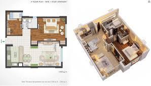 750 Sq Ft Apartment Central Park 2 The Room Prithvi Estates