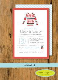 new years wedding invitations ugly sweater watercolor holiday party invitation christmas