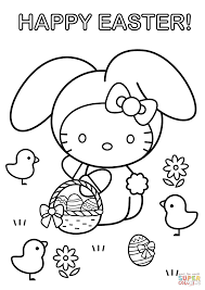 hello kitty happy easter coloring page free printable coloring pages