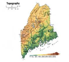 Map Of Portland Maine by Topographic Map Of Maine