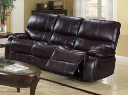 generation trade brown dover air leather reclining sofa 673310