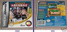 Original Backyard Baseball by Backyard Baseball Nintendo Game Boy Advance 2002 Ebay