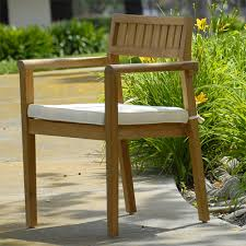 Discount Teak Furniture Outdoor Patio Modern Stacking Chair
