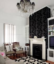 Wallpaper Living Room Feature Wall Ideas Boncvillecom - Wallpaper living room ideas for decorating