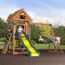 Cedar Playsets Compass Wooden Swing Set