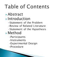 Abstract     Introduction  Statement of the Problem  Review of Related Literature  Statement SlidePlayer