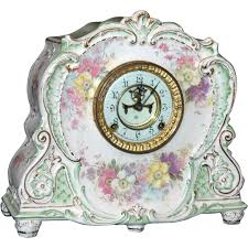 Ansonia Mantel Clock Antique Ansonia Royal Bonn Porcelain Mantel Clock Sold On Ruby Lane