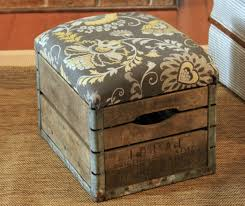 diy milk crate ottoman build crate seats for your home youtube