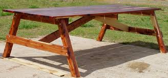 Free Wooden Picnic Table Plans by How To Build A Picnic Table And 6 Benches