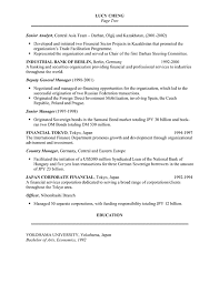 Financial Resume Sample by Banker Resume Example