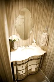 Tiny Powder Room Ideas White Marble Countertop Dark Brown Vanity Desk Mirrored Small