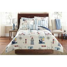 Red King Comforter Sets Mainstays Lighthouse Bed In A Bag Coordinated Bedding Set