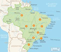 Map Of South America And Caribbean by Map Of Brazil Brazil Regions Rough Guides Rough Guides