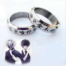 halloween wedding rings amazon com generic cosplay anime tokyo ghoul ken kaneki titanium