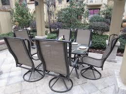 Martha Stewart 7 Piece Patio Dining Set - 7 piece outdoor dining set with swivel chairs patio outdoor