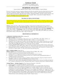Technical Skills On Cv The Best Business Analyst Resume Sample Recentresumes Com