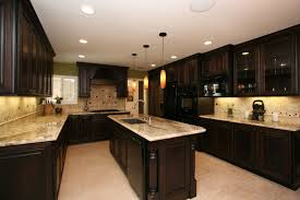 Oak Kitchen Cabinets Refinishing Kitchen Cabinets Painted Dark Brown Techethe Com