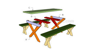 how to build a picnic table with separate benches