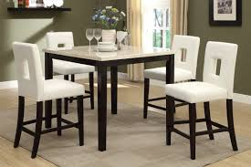 Counter Height Dining Room Tables by Amazon Com Poundex F2338 U0026 F1322 Faux Marble Top W White