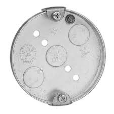 Ceiling Electrical Box by 4 In 6 Cu In Metal Round Pancake Box Case Of 30 56111 30r