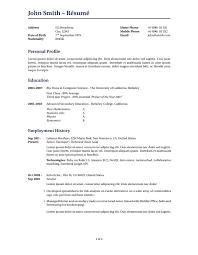 Resume Sample For First Job by Latex Templates Curricula Vitae Résumés