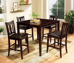 Counter Height Dining Room Tables amazon com furniture of america marion 5 piece solid wood