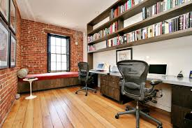 Open Home Office Industrial Office Design Ideas Home Office Industrial With Side
