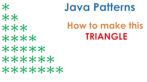 how to print pyramid pattern in java program example java67