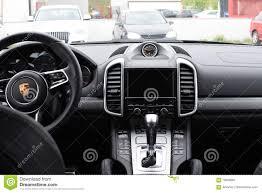 Porsche Cayenne Black - deggendorf germany 23 april 2016 interior of a 2016 porsche