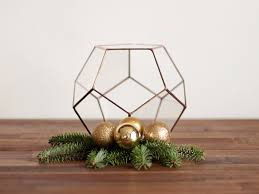 geometric glass terrarium container fall decor gift for her