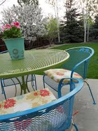 How To Fix Faded Aluminum Patio Furniture Using Just ONE Common - Colorful patio furniture