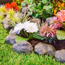 garden rockery ideas garden great garden edging stone decor ideas fake lawn and