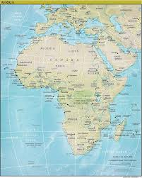 Physical Map Of Africa by Online Maps Africa Physical Map