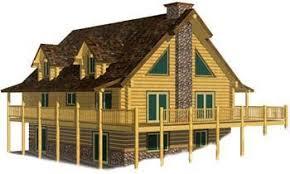 Log Cabin With Loft Floor Plans Log Cabin U0026 House Design Plans Packages U0026 Kits