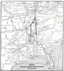 Chicago Line Map by The Chicago And Eastern Illinois Railroad
